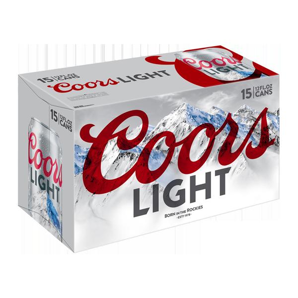 Coors Light Delivered Cold 15 Pack 12 Fl Oz Cans Coors Light