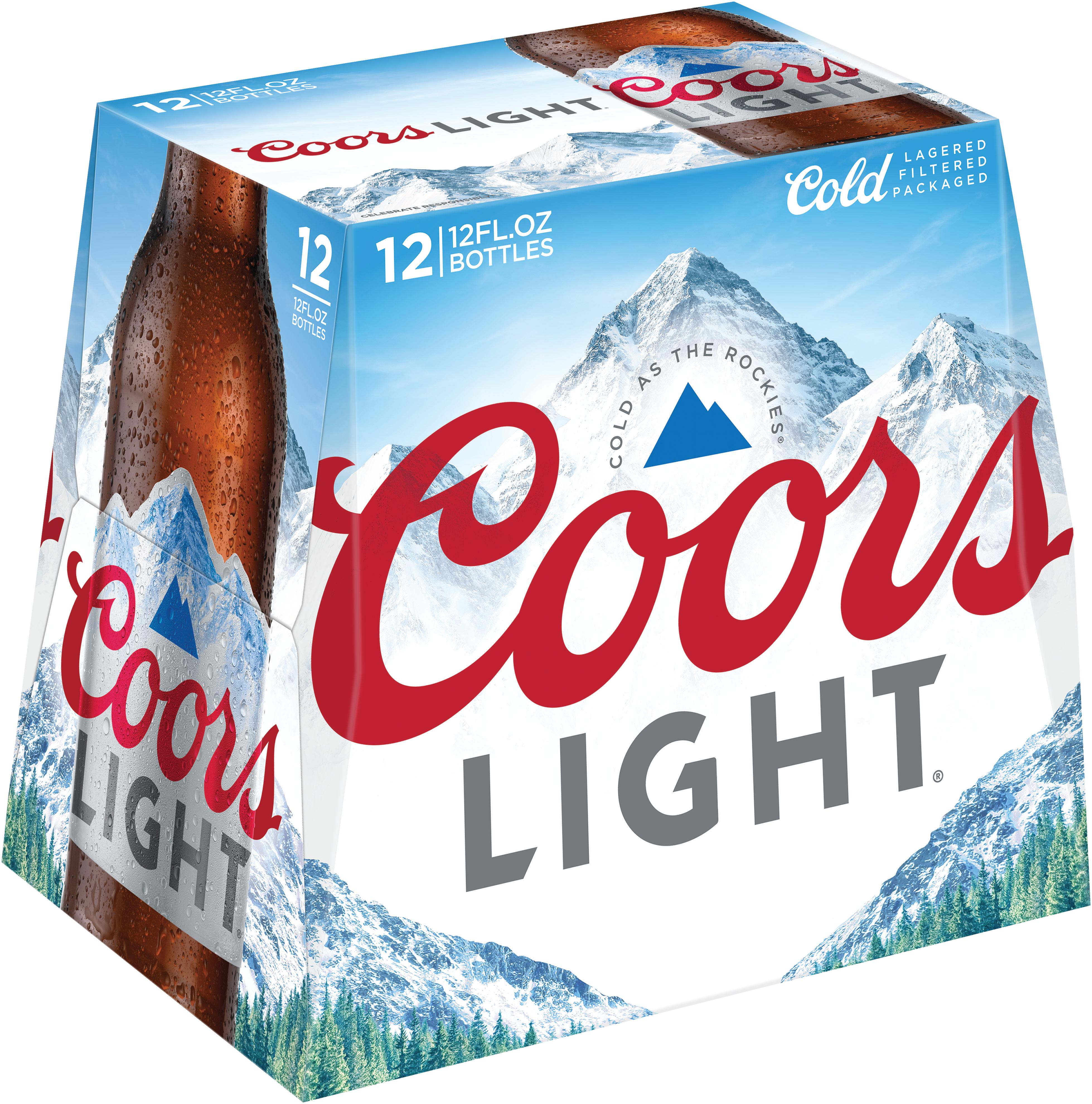 Coors Light Delivered Cold 12 Pack Glass Bottles 12 Fl Oz Coors Light